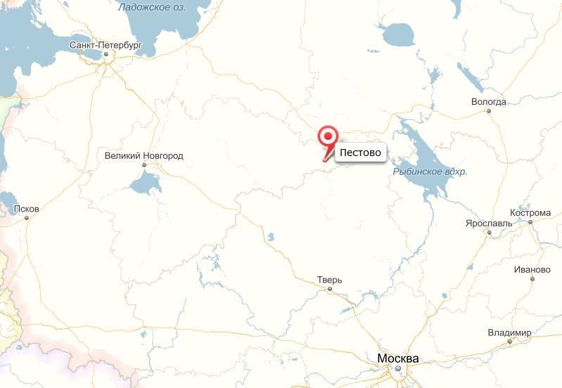 карта пестово