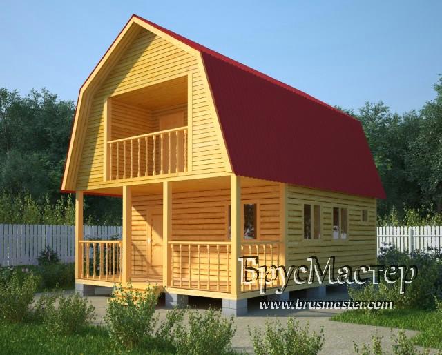 проект дачного дома 6х9