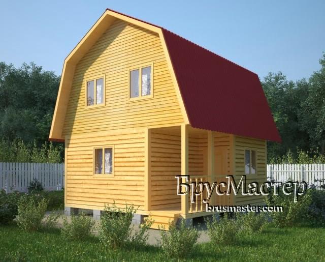 проект садового дома 6х6