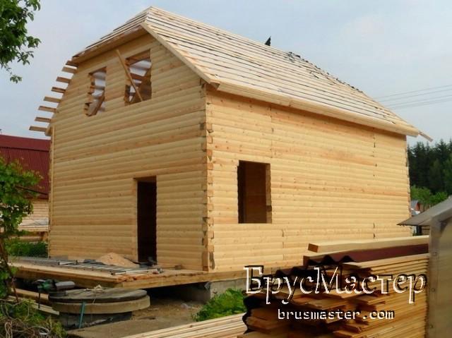 Строительство дома из бруса под усадку