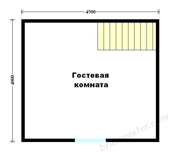 планировка бани 6х4 второй этаж