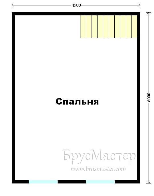 план садового дома с мансардой