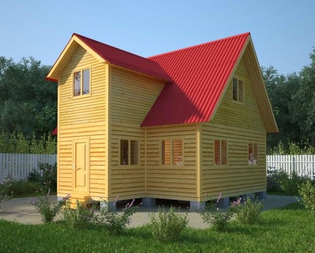Дом 8х9 из бруса (проект Д-26)