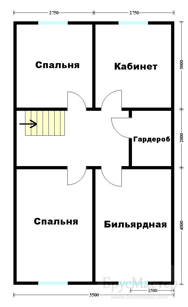 план дома 9х7