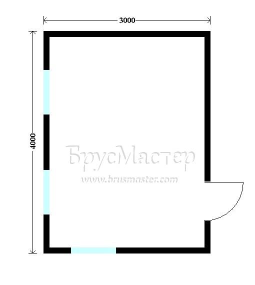 планировка дома 3х4