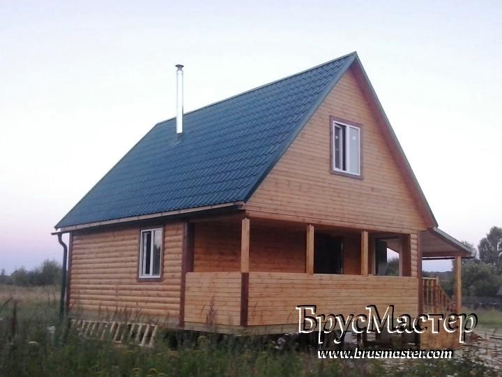Баня 8х6 с мансардой во Владимирской области