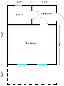 план дома 5х8